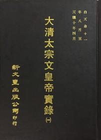 大清太宗文皇帝实录(2册)