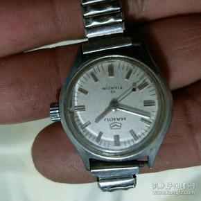 手表  海鸥牌 19钻女式机械手表 走不准