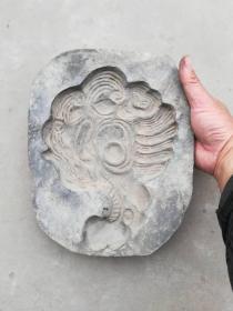 """陶器类印模;一个老的陶器印模子图案动物""""鸟""""28厘米*21厘米*4厘米"""