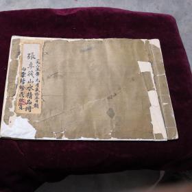 民国(张季筏山水精品册)有藏家题名印章