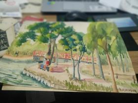 方润秋先生五至60年代水彩画之二