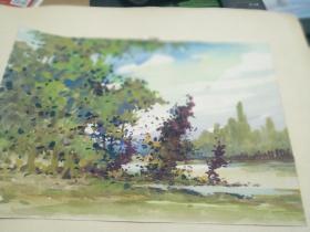 方润秋先生五至60年代水彩画之三