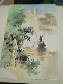 方润秋先生五至60年代水彩画之四