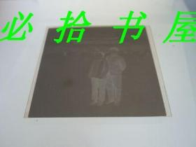 老底片 夫妻北京天安门留影