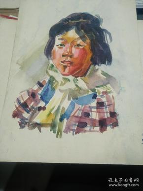 方润秋先生五至60年代水彩画之十,两幅正反面