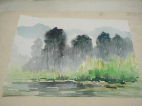方润秋先生五至60年代水彩画之十八