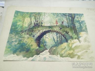 方润秋先生五至60年代水彩画之十九