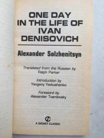 One Day in the Life of Ivan Denisovich(英文原版)