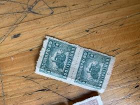 3159:1952年 中华人民共和国印花税票壹佰元4张1伍佰元2张,未使用过的