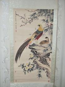 字画、国画【花鸟图】卷画,珍藏国画、中堂画,刘奎龄手绘画。尺寸看图!