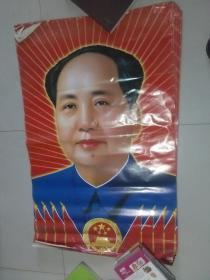 毛主席像 红太阳 红旗 国徽 【规格 113X74CM大幅】