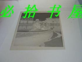 老底片 万泉公园水上舞厅一家四口划船留影