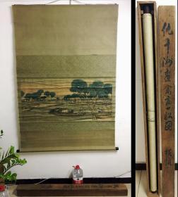 仇十洲-巨幅橫幀-《禽畜一舩圖》