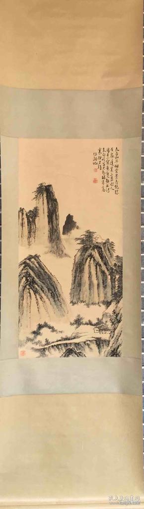 张伯驹   国画       纯手绘     工艺品