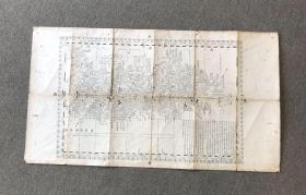 罕见!清代木刻地图《俄罗斯国全图》一张!