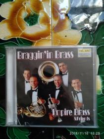 BRAGGIN'IN BRASS:MUSIC OF ELLINGTON,WALLER,MORTON EMPIRE BRASS&FRIENDS CD音乐
