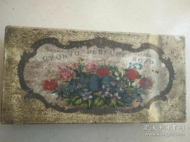 民国高级桂雨香皂广告纸盒