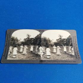 【清代立体照片】1900年代儿童捉迷藏立体照片