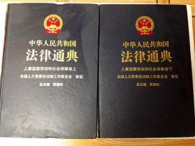 L002020 中华人民共和国法律通典--人事监察劳动和社会保障卷(上、下册)(18/19)(一版一印)