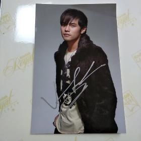 周杰伦 签名照片一张15*10厘米保真