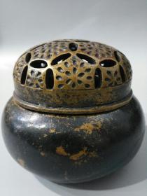 旧藏大户人家收来老黄铜珍玩款熏香炉一件