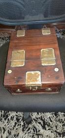 清代老海南黄花梨(梳妆盒)尺寸27-20-10公分
