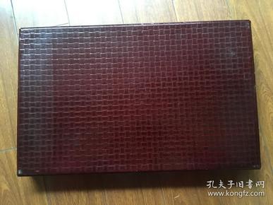 日本老 漆器盒