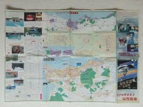 秦皇岛市交通旅游地名图 2001一版一印