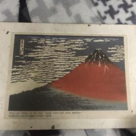 《北斋富岳三十六景》之一,浮世绘画师葛饰北斋晚年的作品