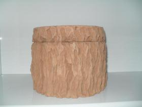 客厅摆件——树墩型蟋蟀罐(大桌盆,直径200MM)——物品体积重量太大且易碎,下单前,请先联系店主商谈。