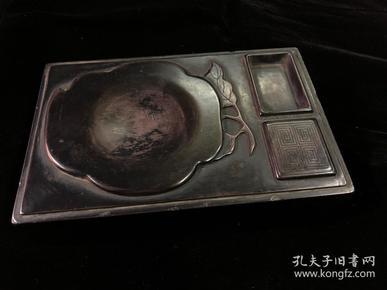 一叶知秋,紫袍玉带石砚