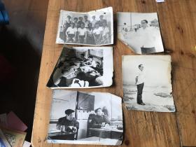 3068:70-780年代黑白照片5张,一张反面有介绍86.7.20厂举行防火消防比赛取得两个集体第一留念