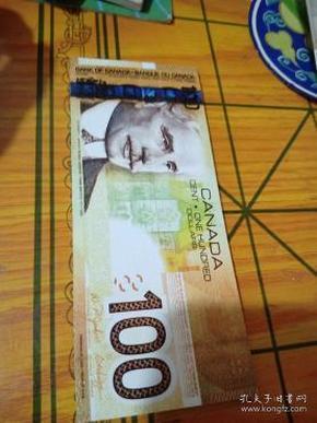 CANADA CENT ONE  HUNDREN  DOLLARS【印刷的票样】