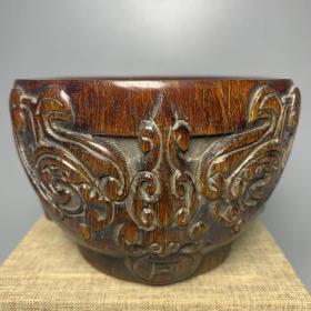 角雕福寿纹碗