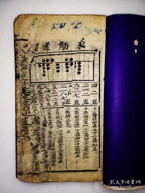 《指明算法》清代木刻,八十个筒子页