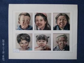 水粉画参赛作品签名照片《人物像》作者:欧阳佩瑶