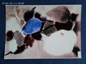 水粉画参赛作品签名照片《辜月》作者:柳绪蕊 (天津美术家协会水彩专业委员会理事)
