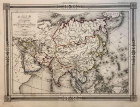 1843年亚洲老地图