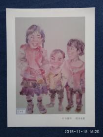 水粉画参赛作品签名照片《可乐童年》作者:李俊霞