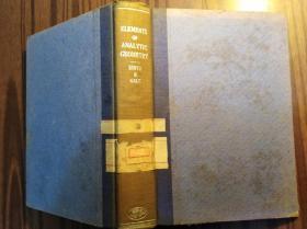 英文原版:ELEMENTS  OF  ANALYTIG GEOMETRY------SMITH  GALE                  (32开精装本)《117》