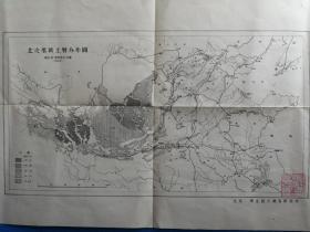 民国初期北京华北综合调查研究所 北支那黄图层分布图