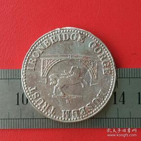 外国英国硬币铁桥峡谷博物馆马匹图案十二生肖相属马纪念章纪念牌收藏珍藏