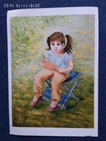 水粉画参赛作品照片《浓荫的午后》作者:徐瑞