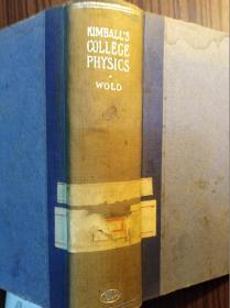 英文原版:KIMBALLSCOLLEGEPHYSICS---WOLD                  (大32开精装本)《117》