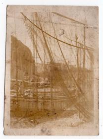民国报纸图片类----民国原版老照片--1930年前后时间, 渔船和渔网
