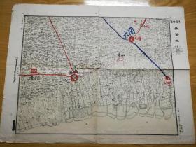 1948年华东军区司令部―江苏奉贤城地图(少见)