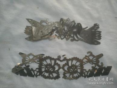 (夹4-32)建国左右 手工剪纸  和平鸽,花卉剪纸,尺寸19*6cm