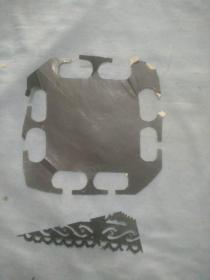 (夹4-37)建国左右 手工剪纸  2张,尺寸17*12cm
