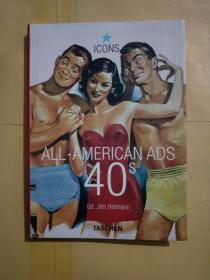 英文原版:ALL-AMERICAN ADS OF THE 40S.(40年代的美国)