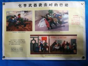 1971年宣传画三防挂图二十毛主席语录化学武器袭击时的行动对开挂图